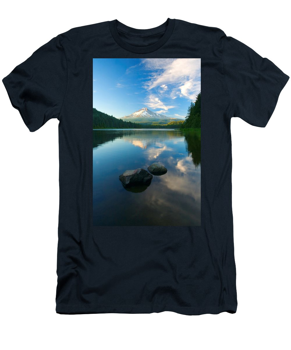 Mt. Hood T-Shirt featuring the photograph Mt. Hood Cirrus Explosion by Mike Dawson