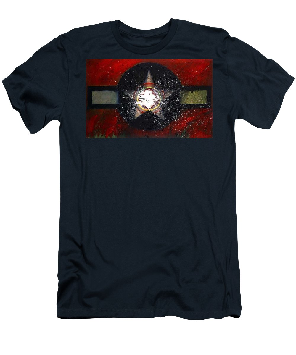 Usaaf Insignia T-Shirt featuring the painting My Indian Red by Charles Stuart