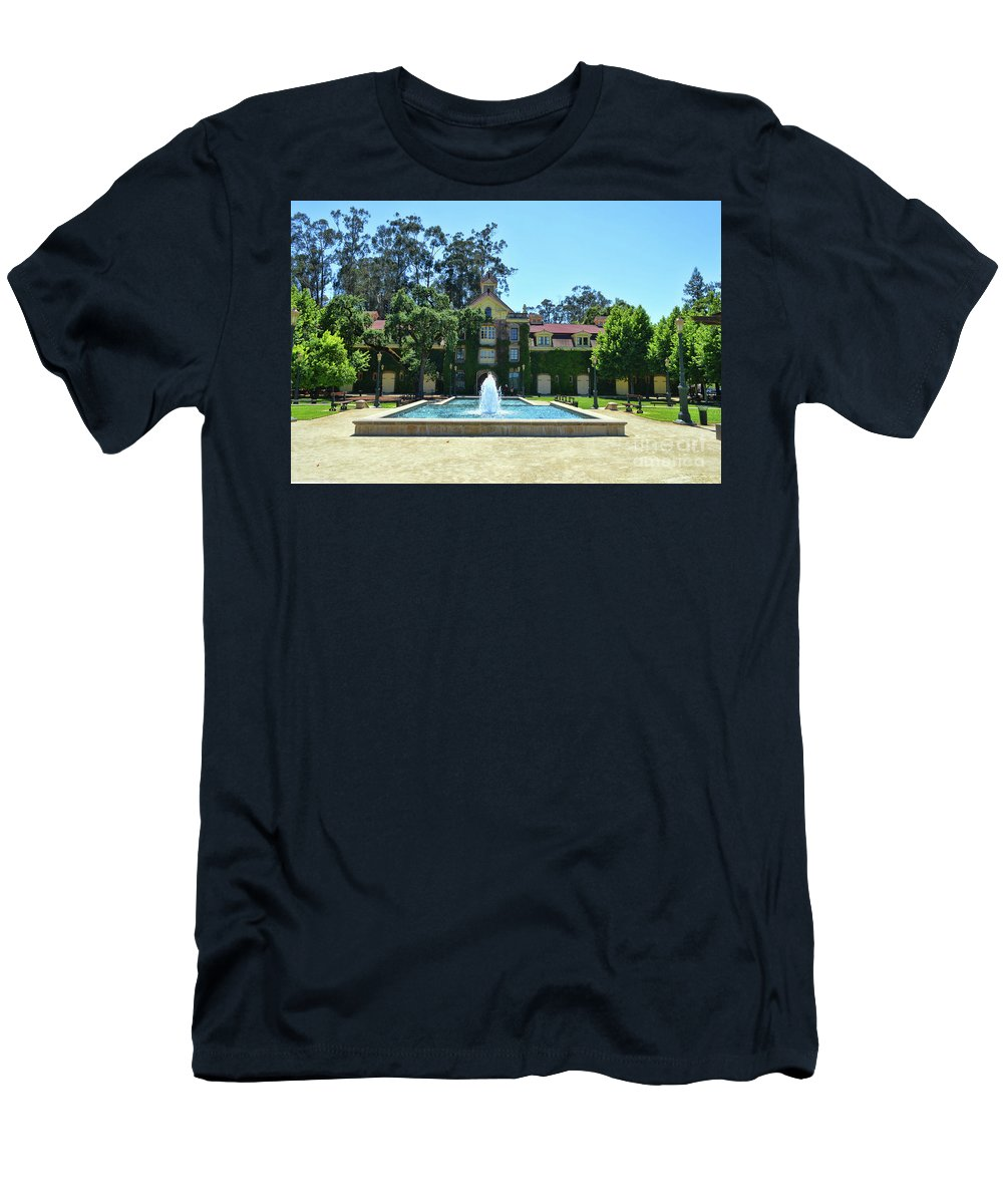 Inglenook Vineyard Men's T-Shirt (Athletic Fit) featuring the photograph Napa Valley Inglenook Vineyard -8 by Tommy Anderson