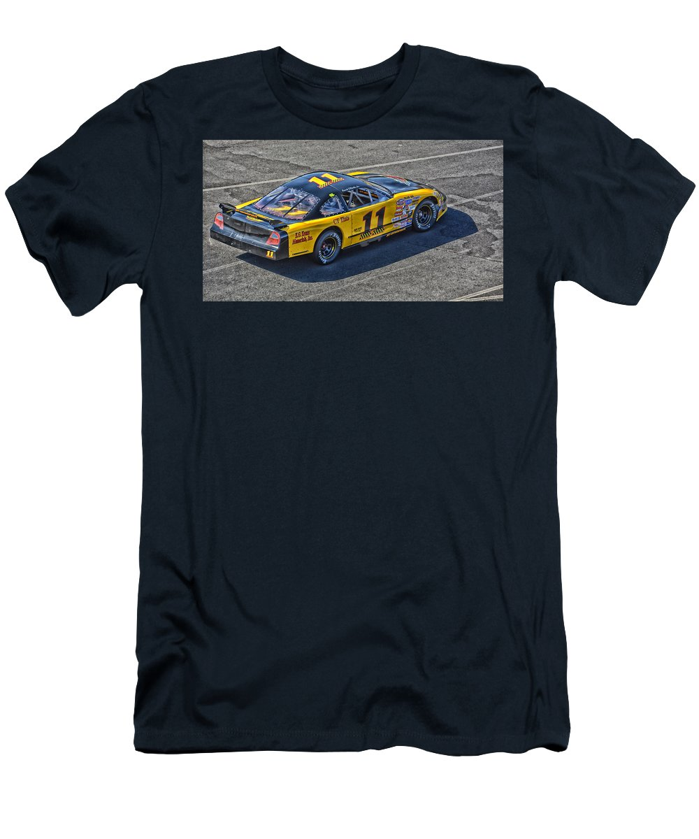 Napa Men's T-Shirt (Athletic Fit) featuring the photograph Nascar 11 Jet Motorsports by Mike Martin