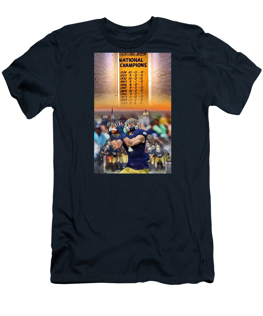 Irish Men's T-Shirt (Athletic Fit) featuring the painting National Championships Nd by John Farr