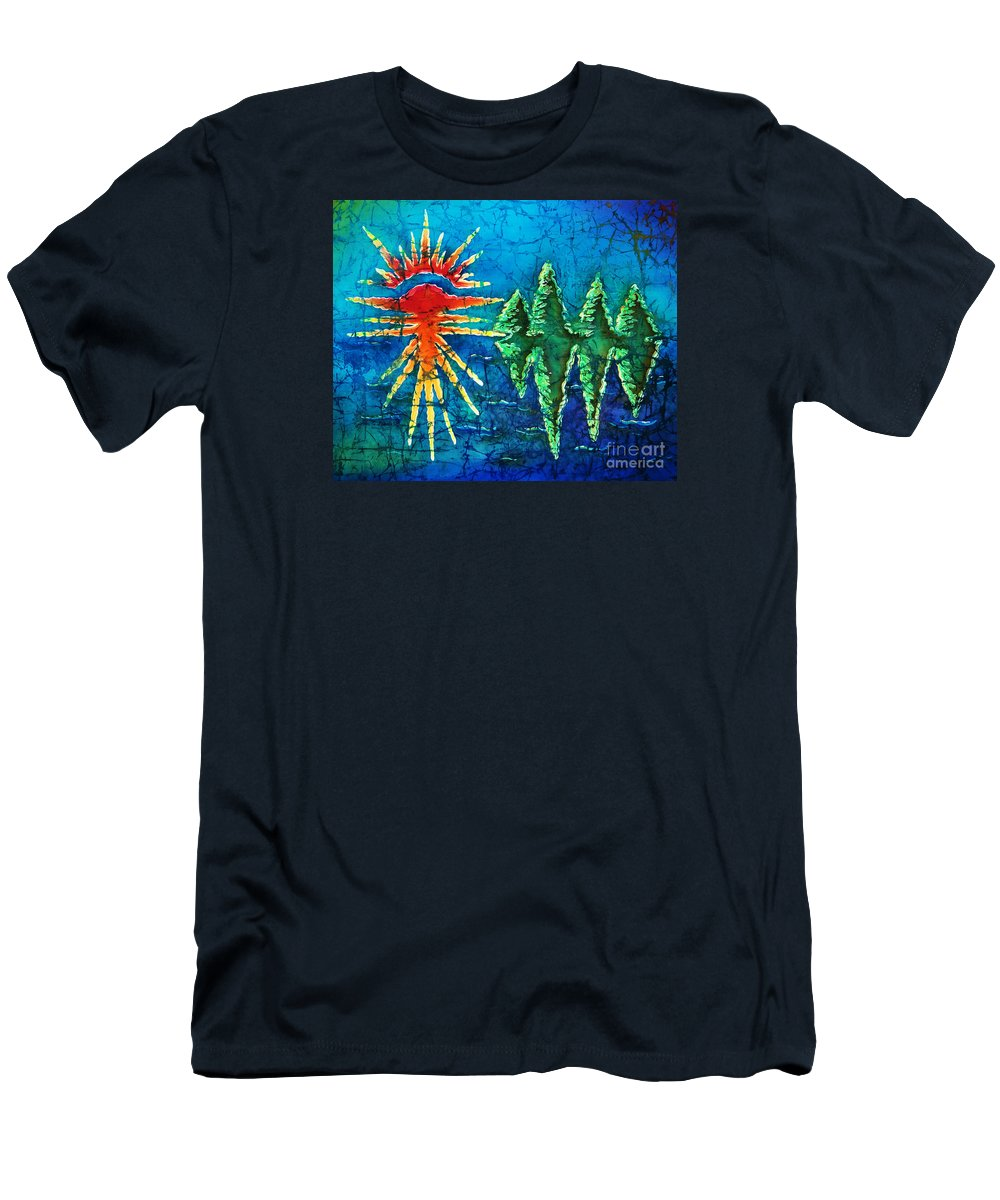 Trees Men's T-Shirt (Athletic Fit) featuring the painting Nature by Sue Duda