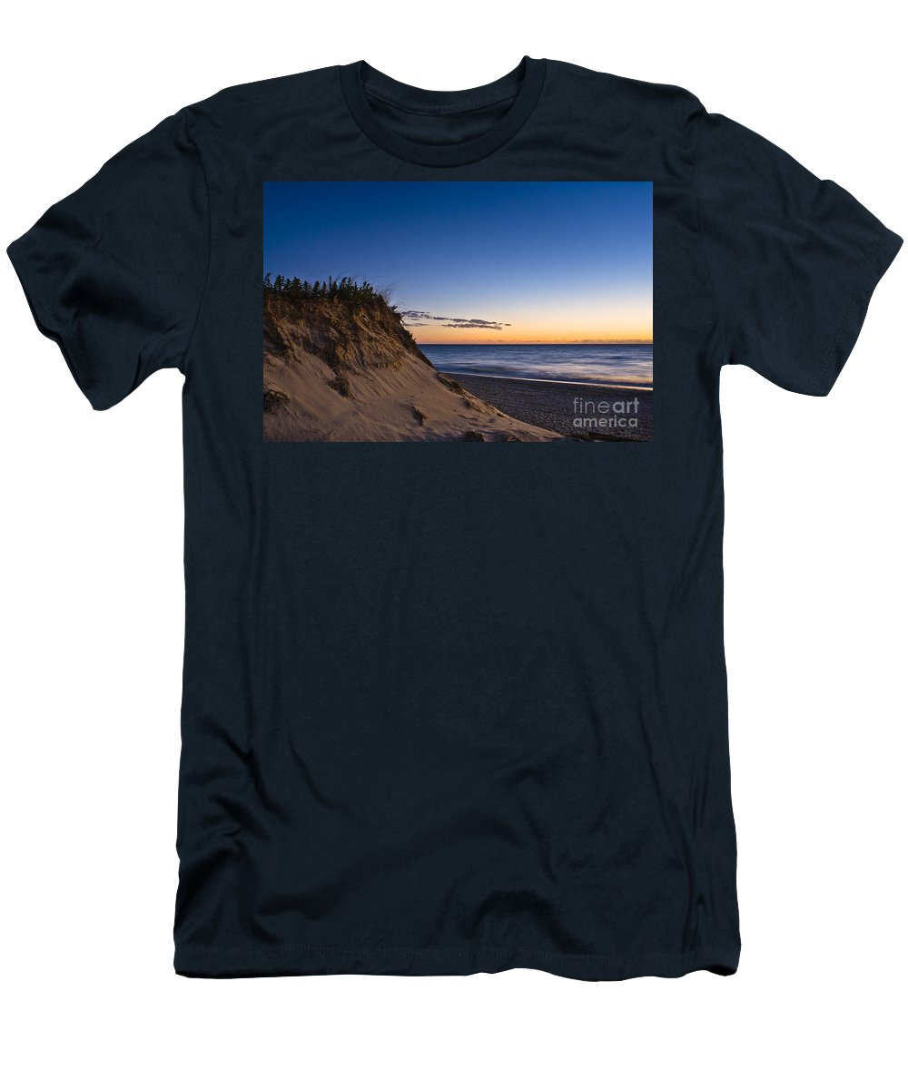Beach Men's T-Shirt (Athletic Fit) featuring the photograph Nauset Beach Sunrise by John Greim