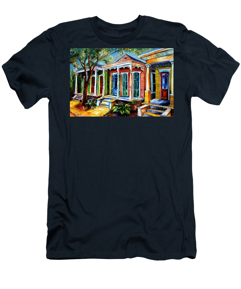 New Orleans Paintings Men's T-Shirt (Athletic Fit) featuring the painting New Orleans Plain And Fancy by Diane Millsap