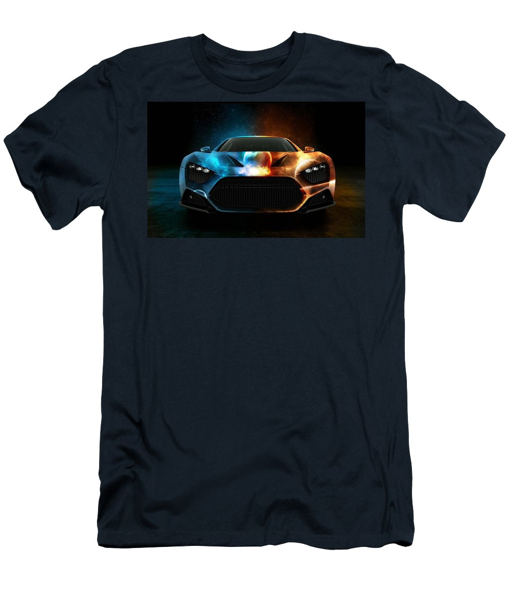 Nice Car 3d Men's T-Shirt (Athletic Fit) featuring the digital art Nice Car by Duyet Ha Lich