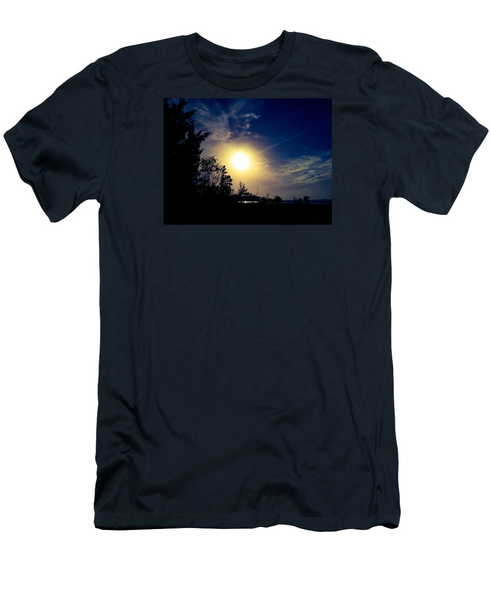 Night Men's T-Shirt (Athletic Fit) featuring the photograph Night Blue Sky Delight.. by Lewis Gilbert