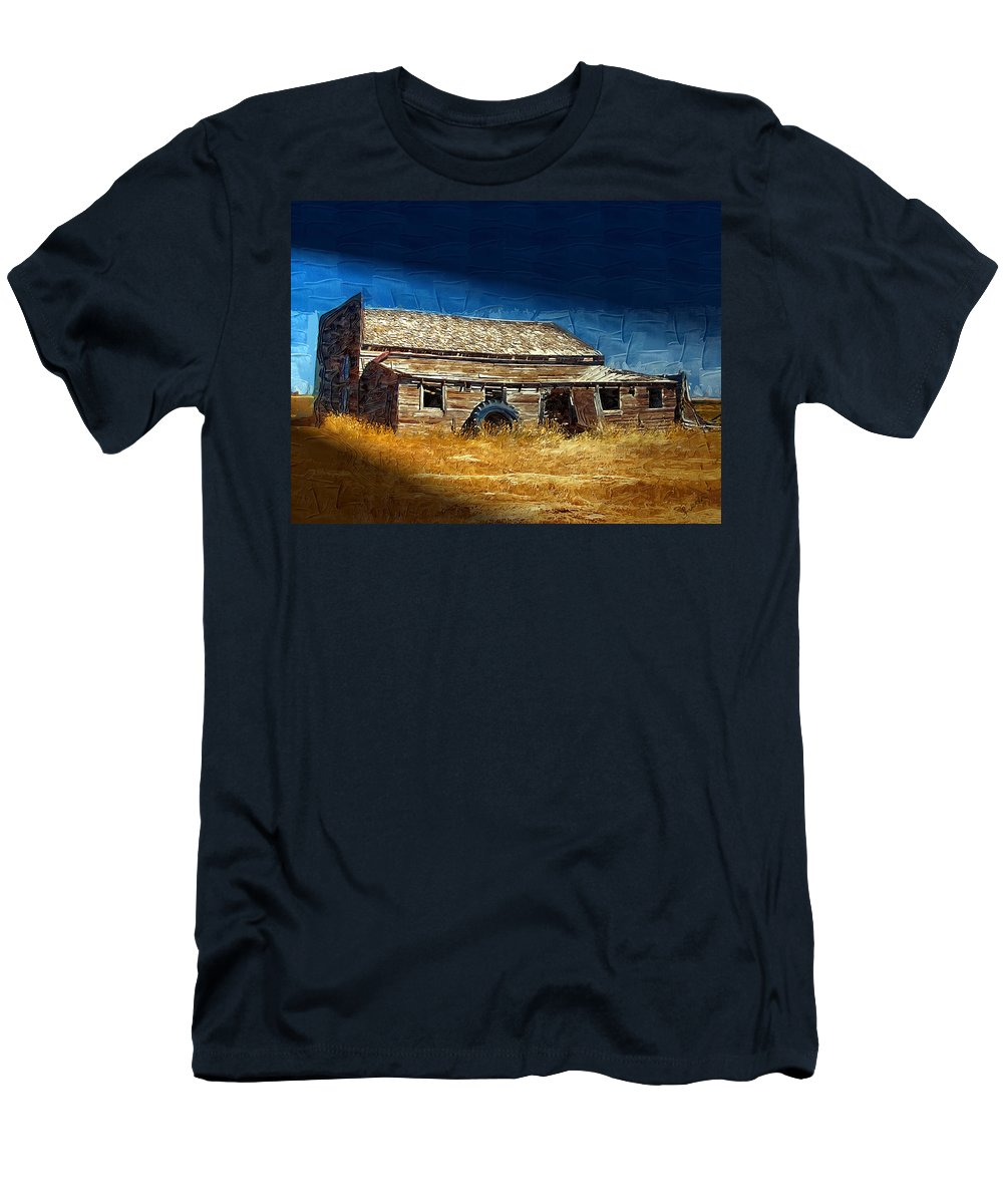 Window Men's T-Shirt (Athletic Fit) featuring the photograph Night Shift by Susan Kinney
