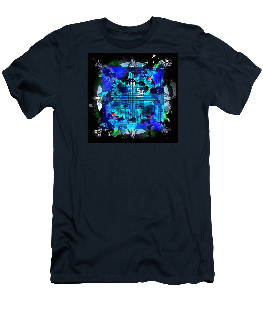 Mandala Art And Composition Men's T-Shirt (Athletic Fit) featuring the digital art Nightmares And Dreamscapes by Mario Carini