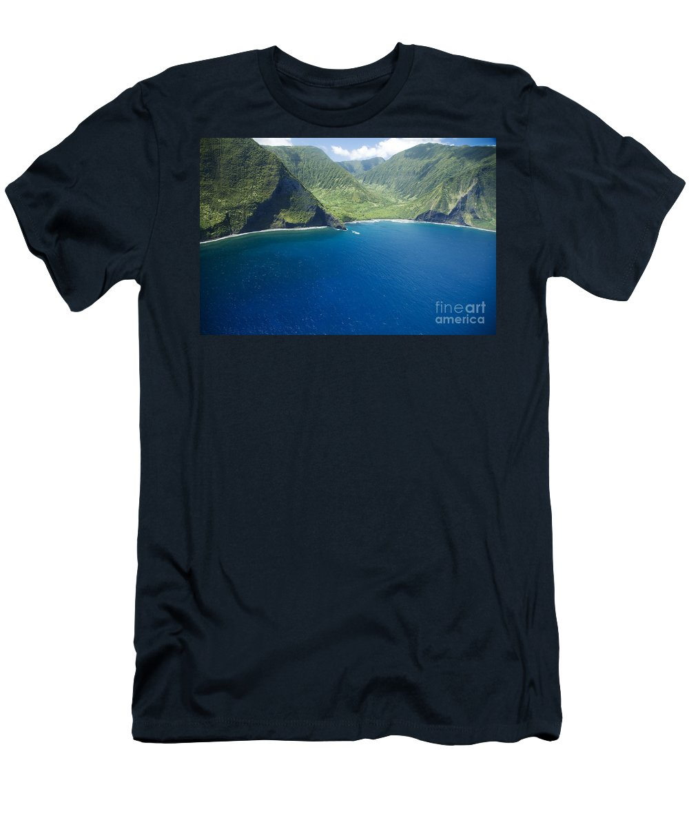 Amazing Men's T-Shirt (Athletic Fit) featuring the photograph North Shore Cliff Coast Line by Peter French - Printscapes