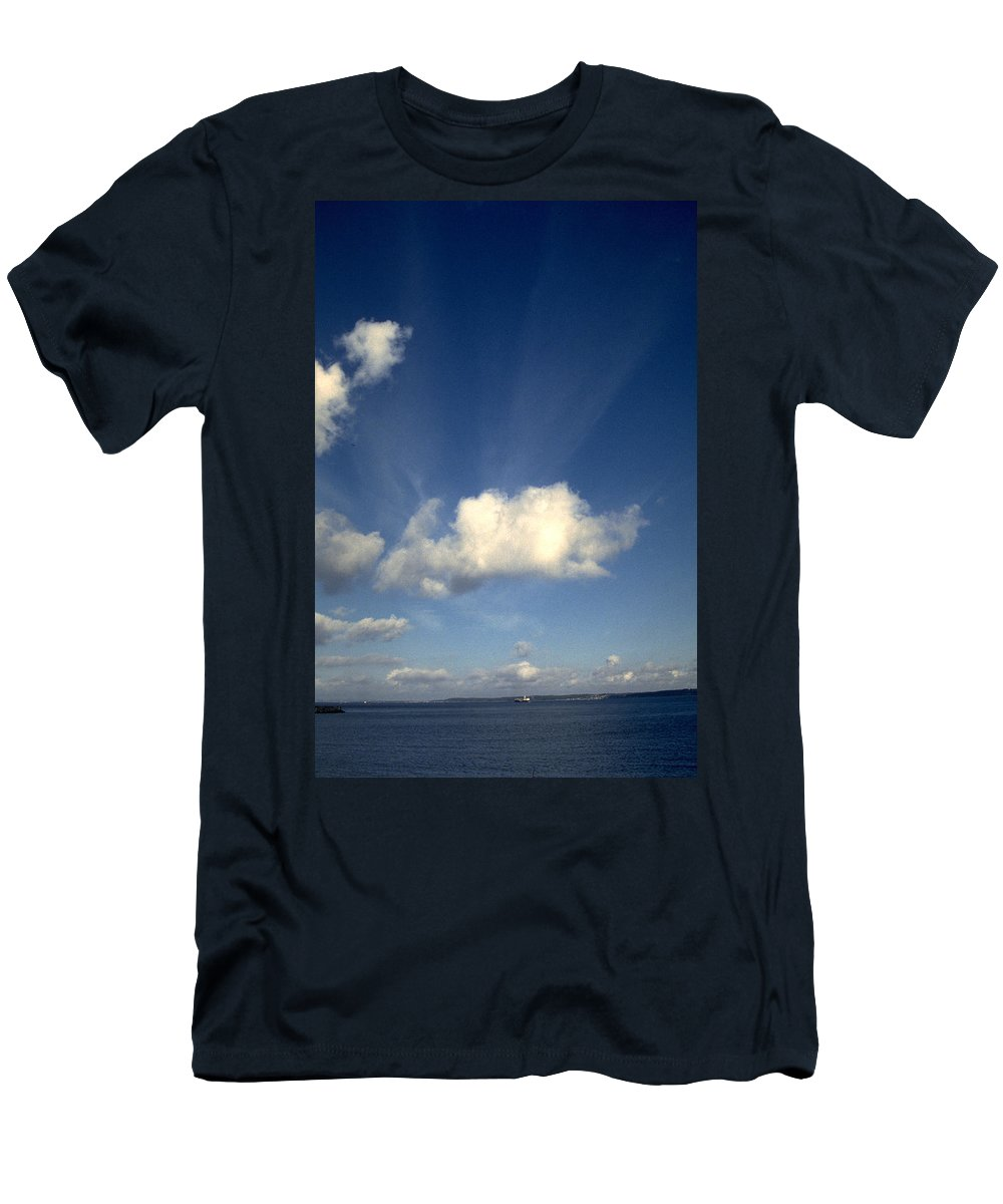 Northern Sky Men's T-Shirt (Athletic Fit) featuring the photograph Northern Sky by Flavia Westerwelle