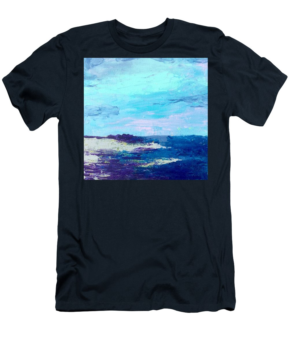 Landscape Men's T-Shirt (Athletic Fit) featuring the painting Not Mush by Tom Harmon