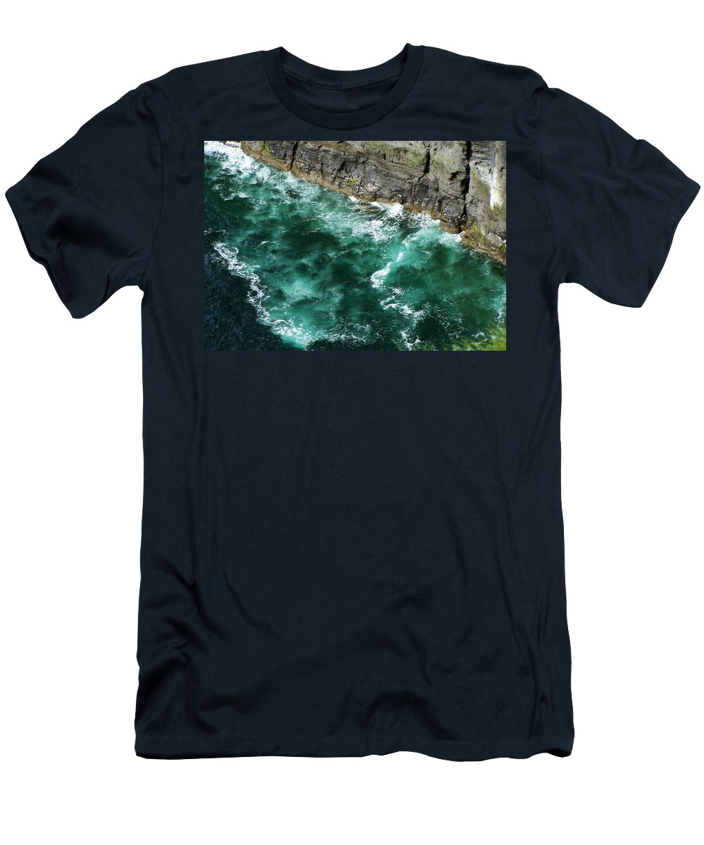Irish Men's T-Shirt (Athletic Fit) featuring the photograph Nowhere To Go Cliffs Of Moher Ireland by Teresa Mucha