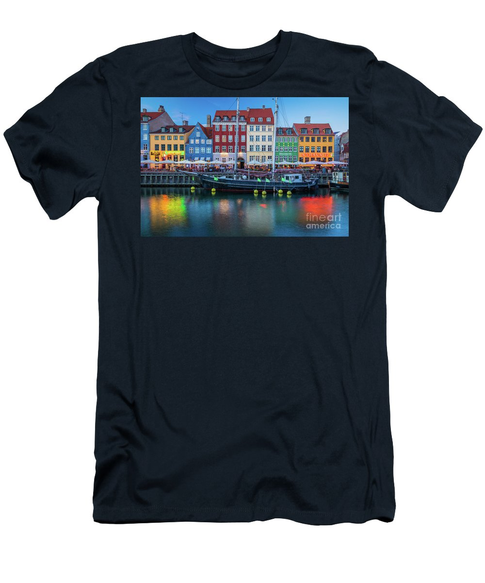 Copenhagen T-Shirt featuring the photograph Nyhavn Evening by Inge Johnsson