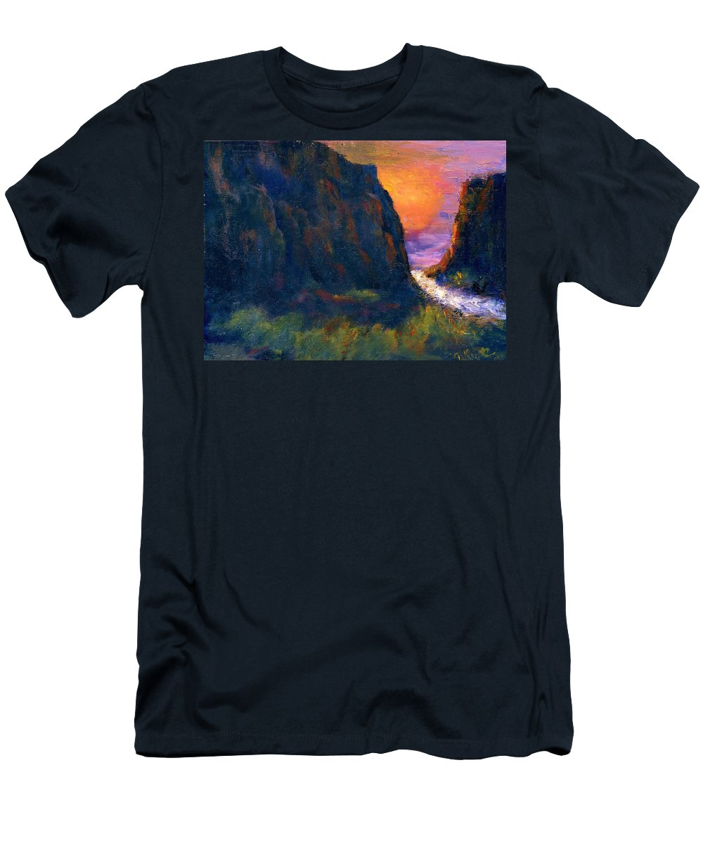 Impressionistic Men's T-Shirt (Athletic Fit) featuring the painting Oak Creek Canyon by Gail Kirtz