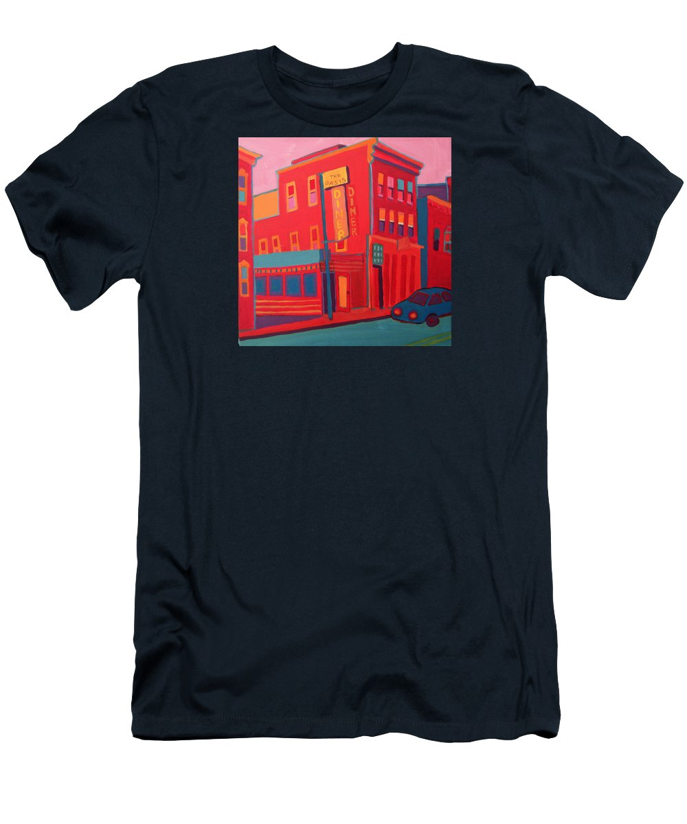 Diner T-Shirt featuring the painting Oasis Diner Burlington VT by Debra Bretton Robinson