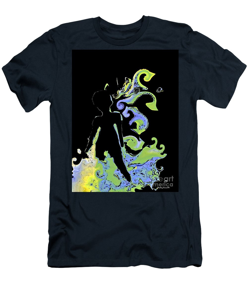 Ocean Men's T-Shirt (Athletic Fit) featuring the digital art Ocean by Shelley Jones