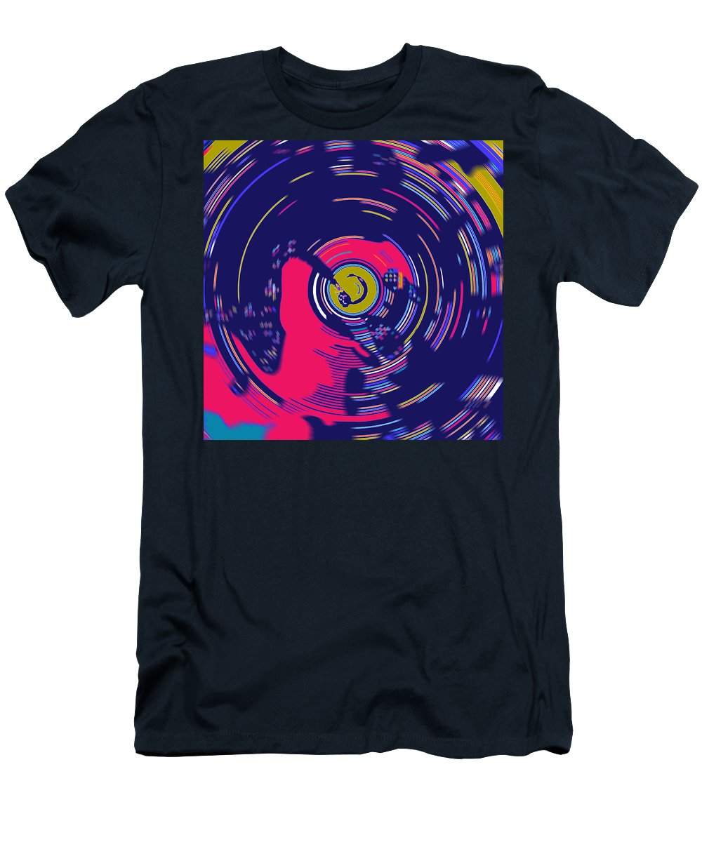 Spin Men's T-Shirt (Athletic Fit) featuring the digital art On The Decks by Joy McKenzie