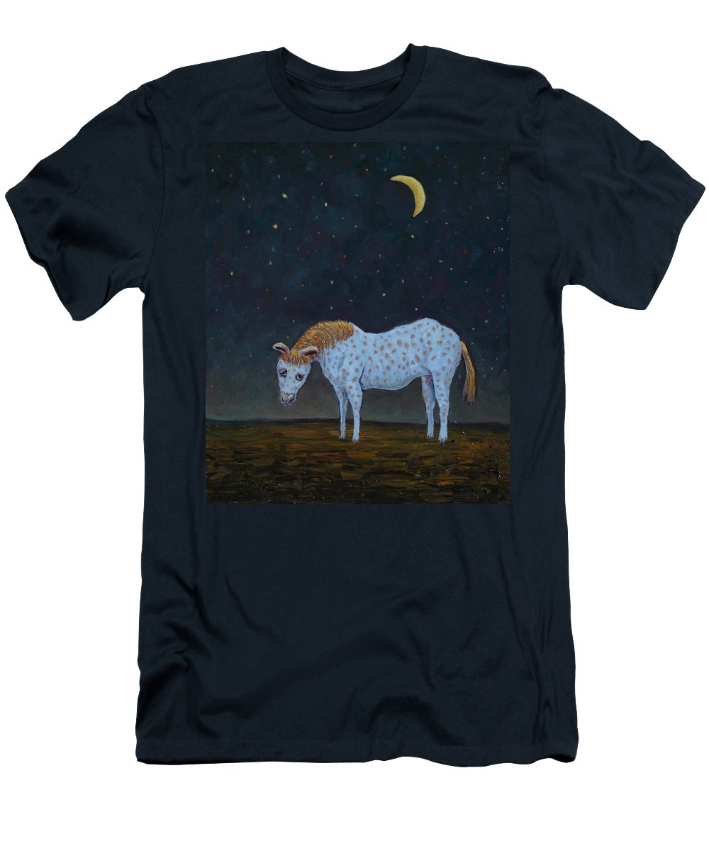 Retirement Men's T-Shirt (Athletic Fit) featuring the painting Out To Pasture by James W Johnson