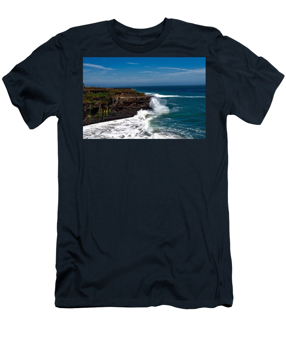 Pacific Men's T-Shirt (Athletic Fit) featuring the photograph Pacific Coastline by Mountain Dreams