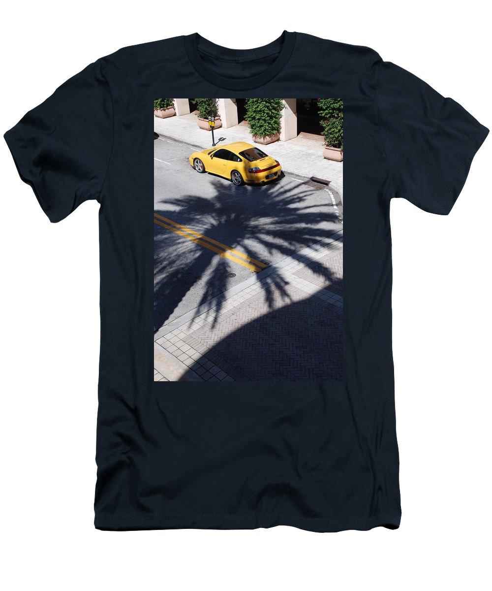 Porsche Men's T-Shirt (Athletic Fit) featuring the photograph Palm Porsche by Rob Hans