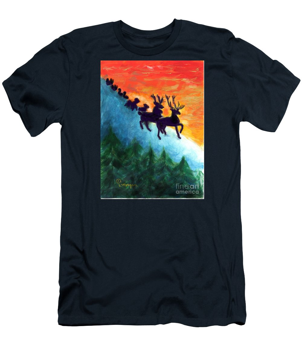 Animal T-Shirt featuring the painting Parade Down Mt Sugarloaf by Laurie Morgan