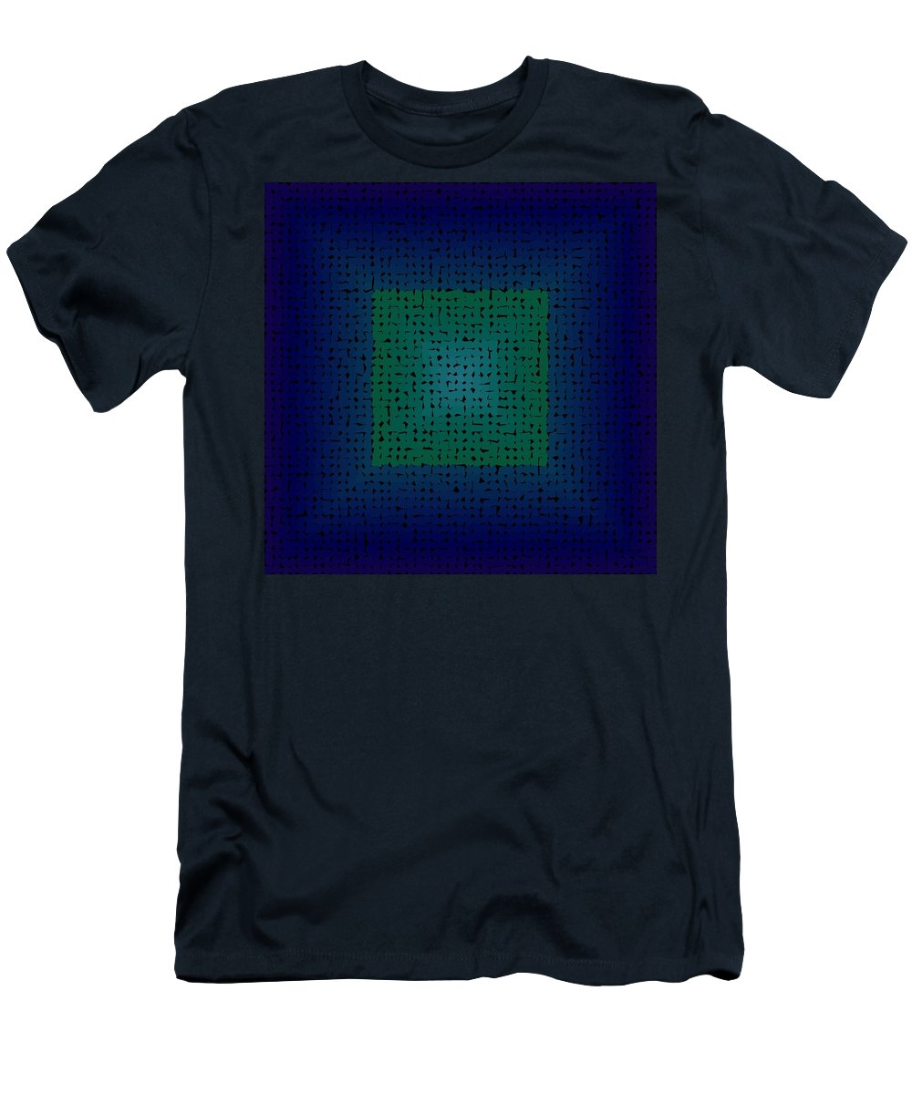 Pattern 120 Men's T-Shirt (Athletic Fit) featuring the digital art Pattern 120 by Marko Sabotin
