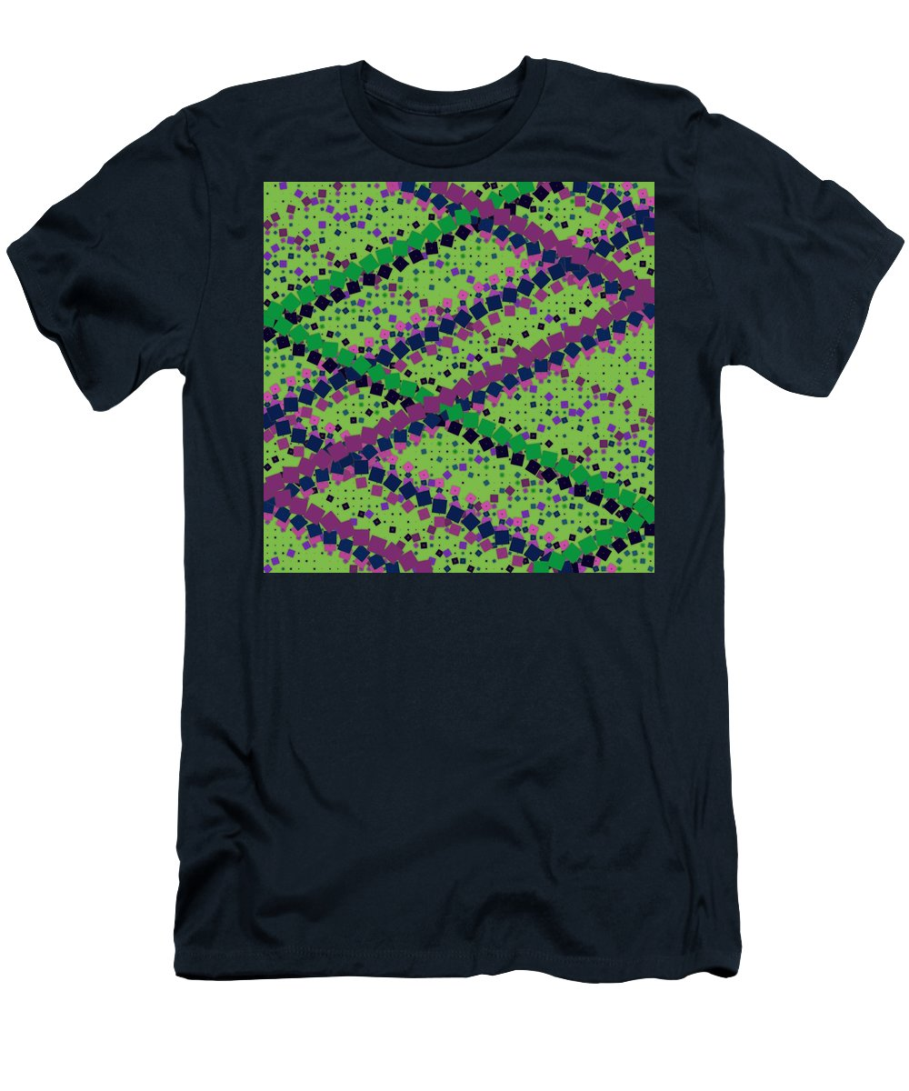 Pattern 54 Men's T-Shirt (Athletic Fit) featuring the digital art Pattern 54 by Marko Sabotin