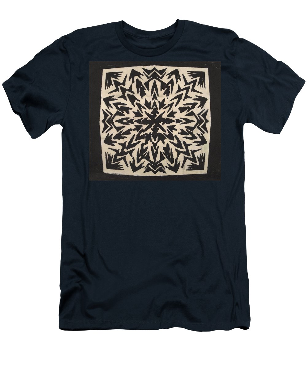 Abstract Men's T-Shirt (Athletic Fit) featuring the mixed media Pattern Creation by Natalie Holland