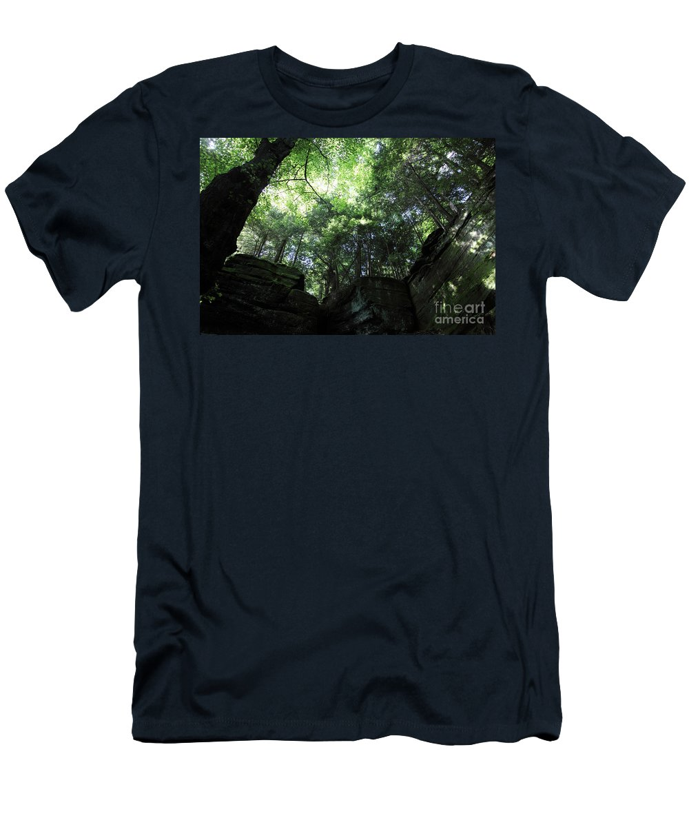 Nature Men's T-Shirt (Athletic Fit) featuring the photograph Peace All Around by Amanda Barcon