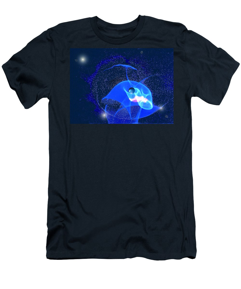 Space Men's T-Shirt (Athletic Fit) featuring the digital art Phenomenon by Steve Karol