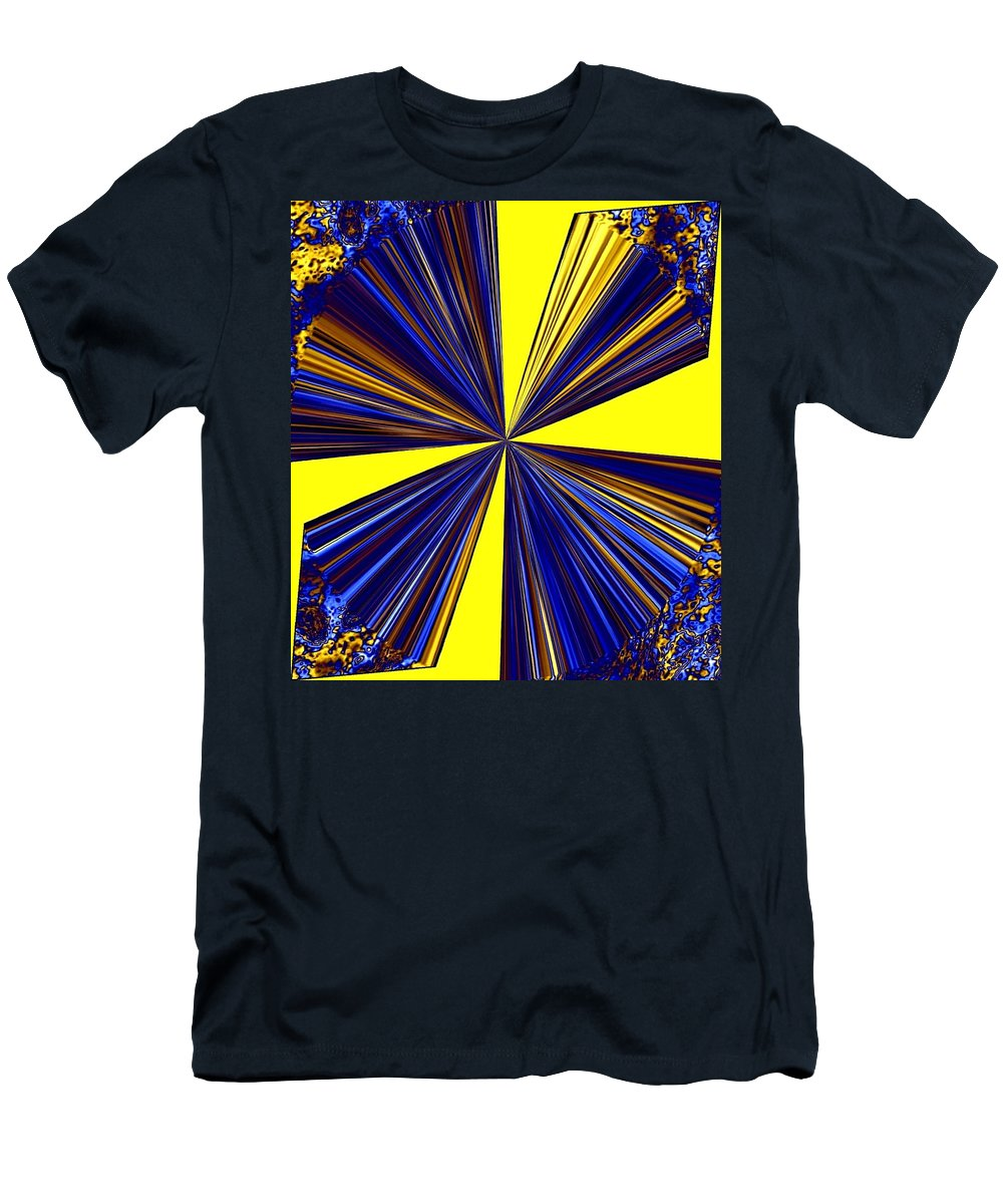 Abstract Men's T-Shirt (Athletic Fit) featuring the digital art Pizzazz 20 by Will Borden
