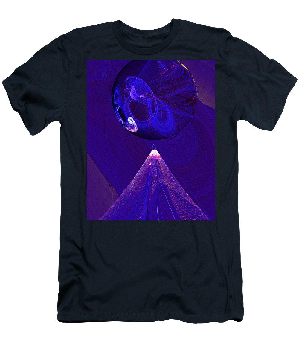 Fine Art Digital Art Men's T-Shirt (Athletic Fit) featuring the digital art Poised by David Lane