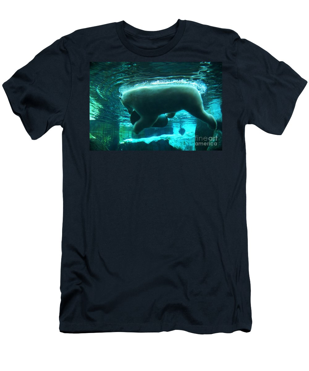 Polar-bear Men's T-Shirt (Athletic Fit) featuring the photograph Polar Play by Linda Shafer