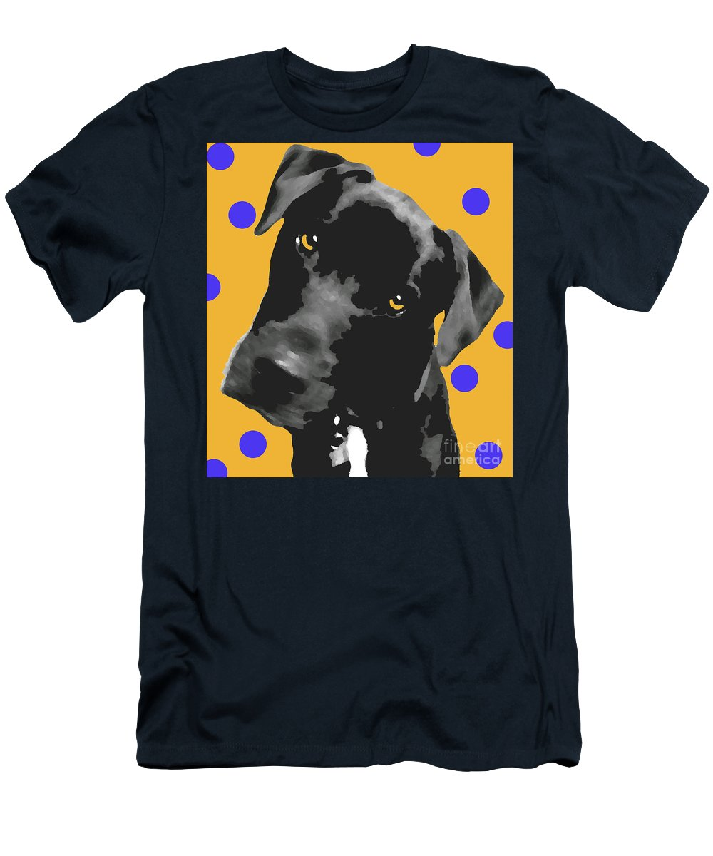 Dogs Men's T-Shirt (Athletic Fit) featuring the photograph Polka Dot by Amanda Barcon