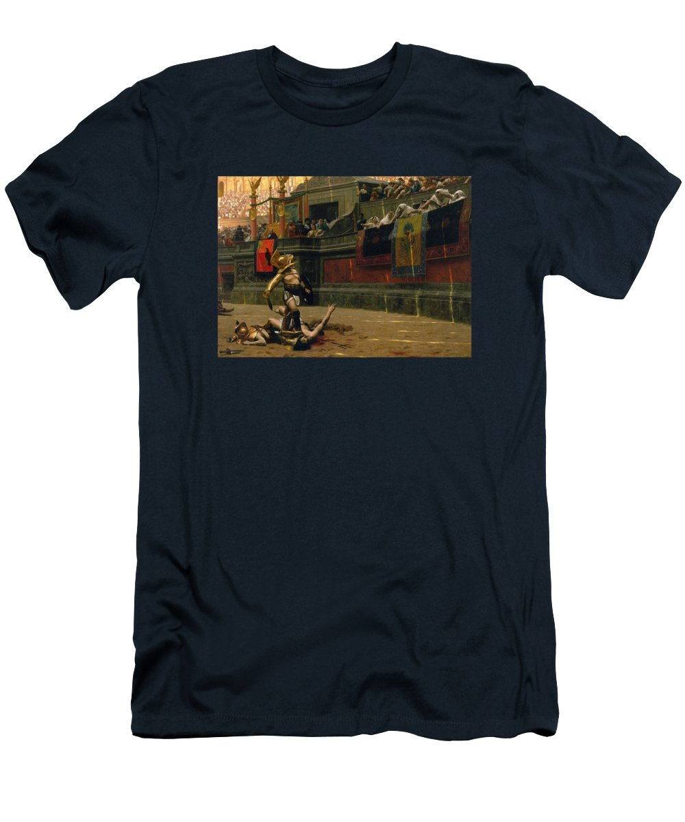 Pollice Verso T-Shirt featuring the painting Pollice Verso by War Is Hell Store
