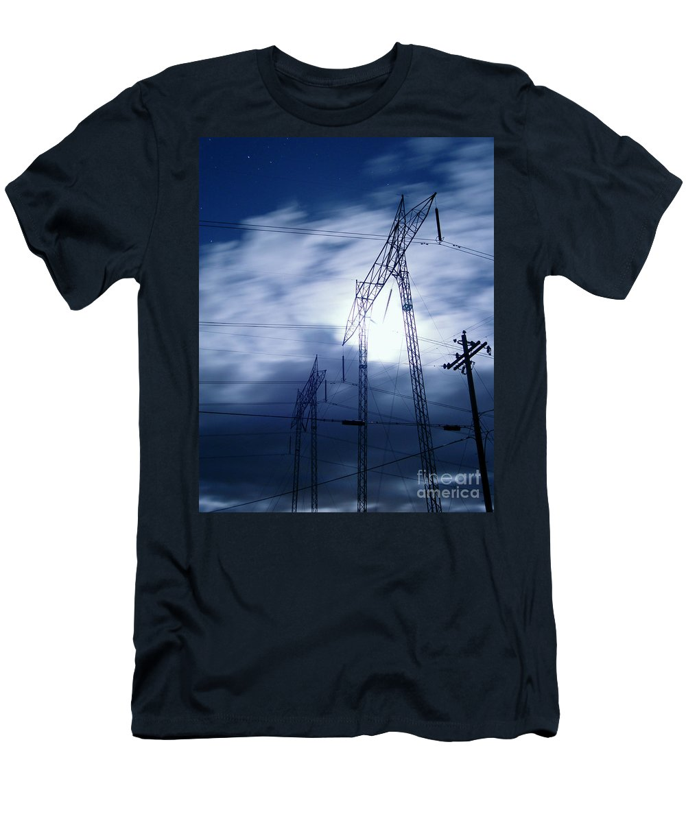 Clouds Men's T-Shirt (Athletic Fit) featuring the photograph Power Surge by Peter Piatt