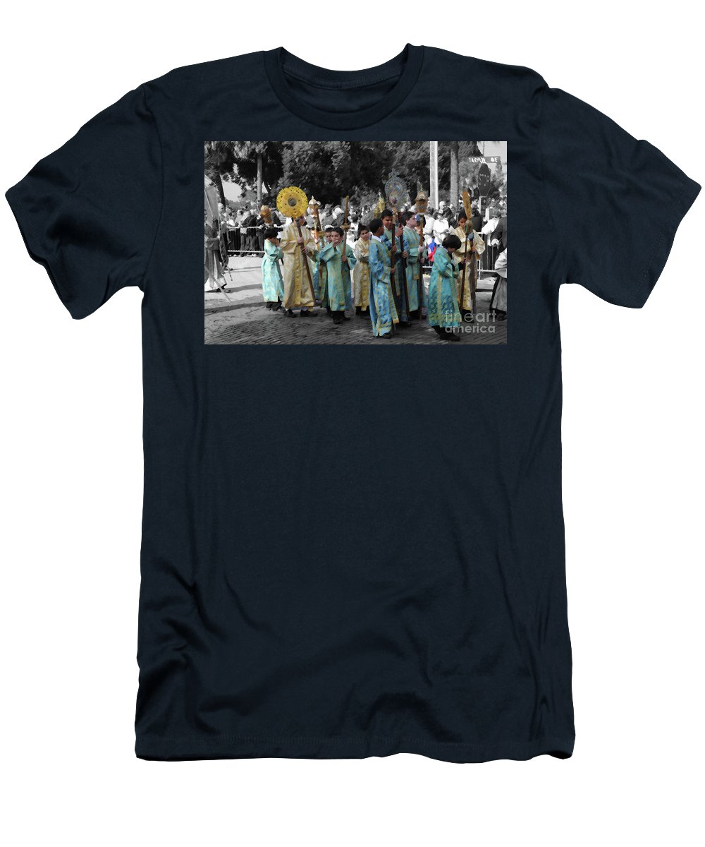 Greek Men's T-Shirt (Athletic Fit) featuring the photograph Precession by Jost Houk
