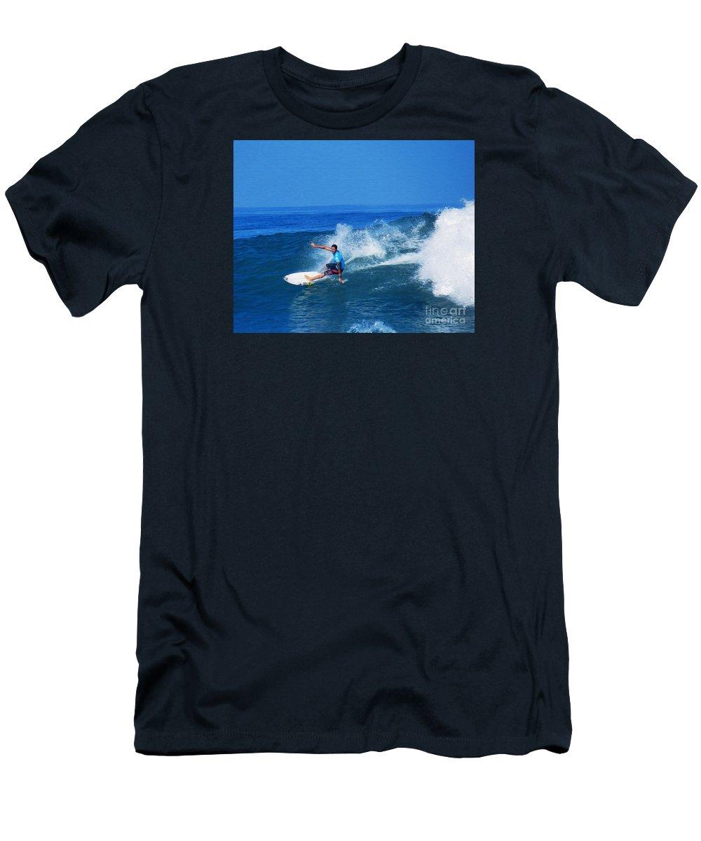Professional-surfer-surfers Men's T-Shirt (Athletic Fit) featuring the photograph Pro Surfer Ezekiel Lau-1 by Scott Cameron