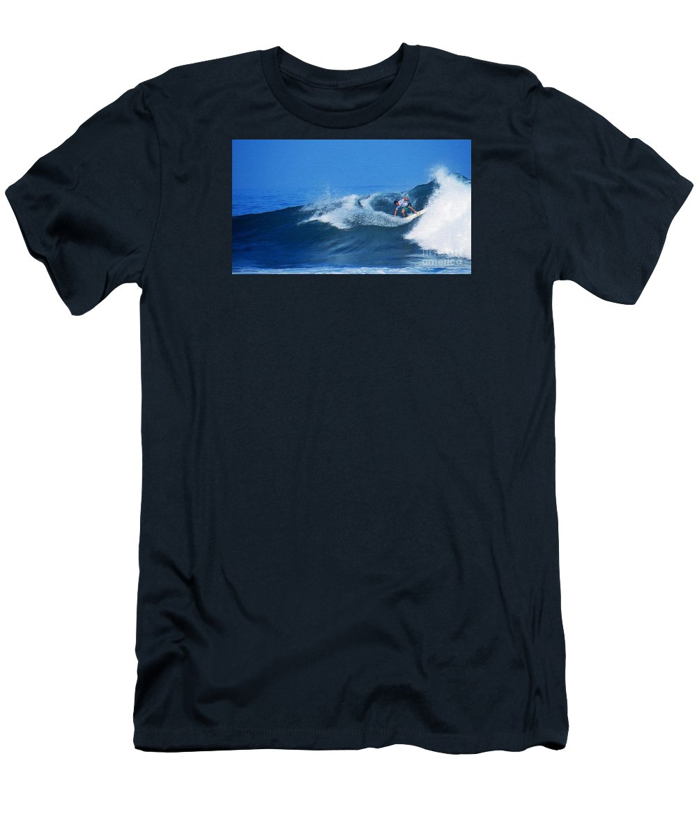Professional-surfer-surfers Men's T-Shirt (Athletic Fit) featuring the photograph Pro Surfer Gabe King - 2 by Scott Cameron