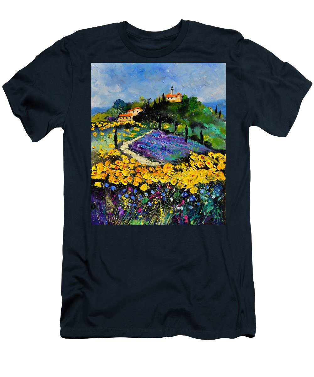 Landscape T-Shirt featuring the painting Provence 561140 by Pol Ledent