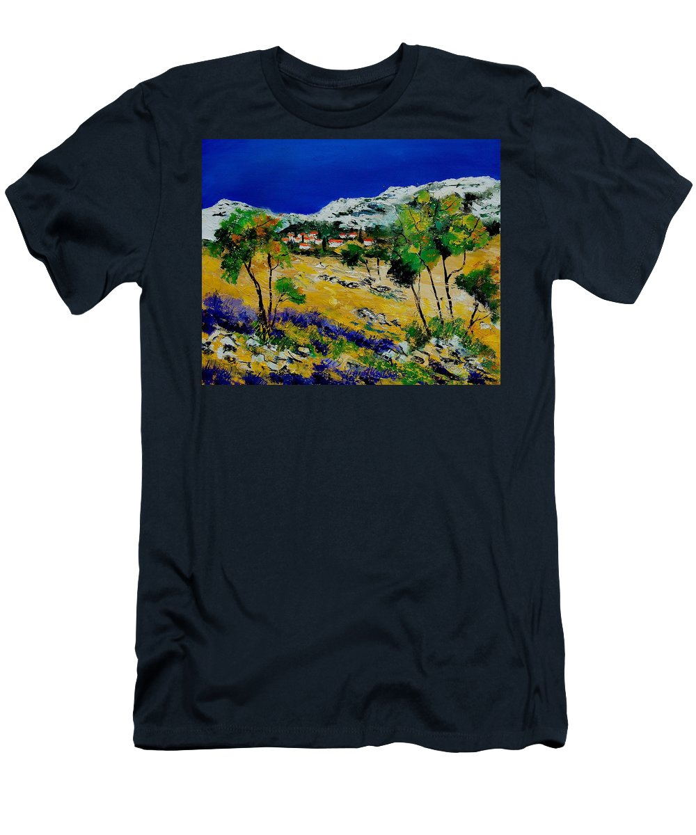 Provence Men's T-Shirt (Athletic Fit) featuring the painting Provence 569060 by Pol Ledent
