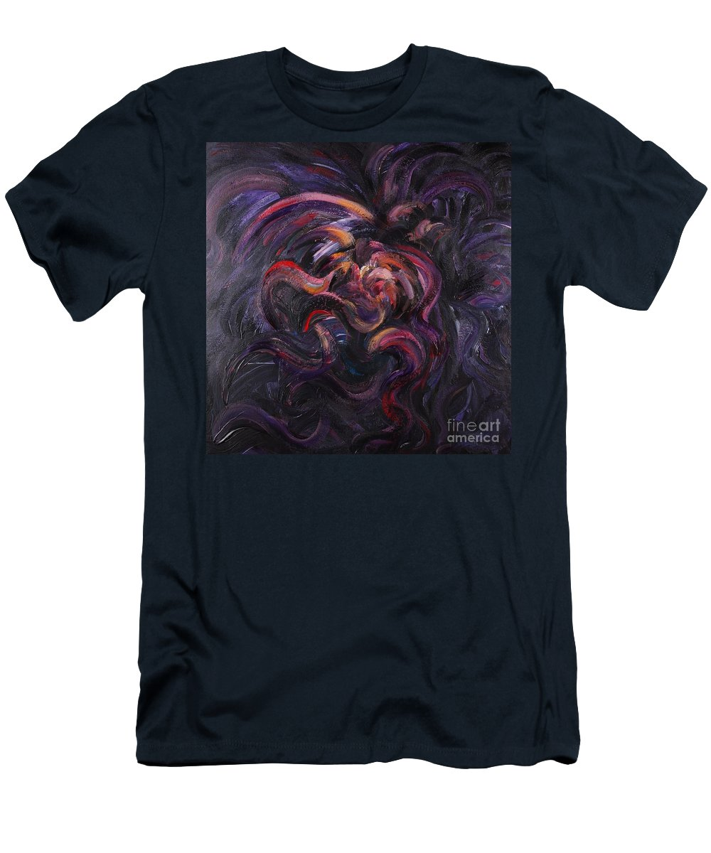 Purple T-Shirt featuring the painting Purple Passion by Nadine Rippelmeyer