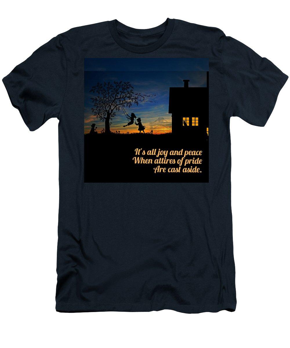 Landscape Men's T-Shirt (Athletic Fit) featuring the photograph Quote2 by Rachael Samson