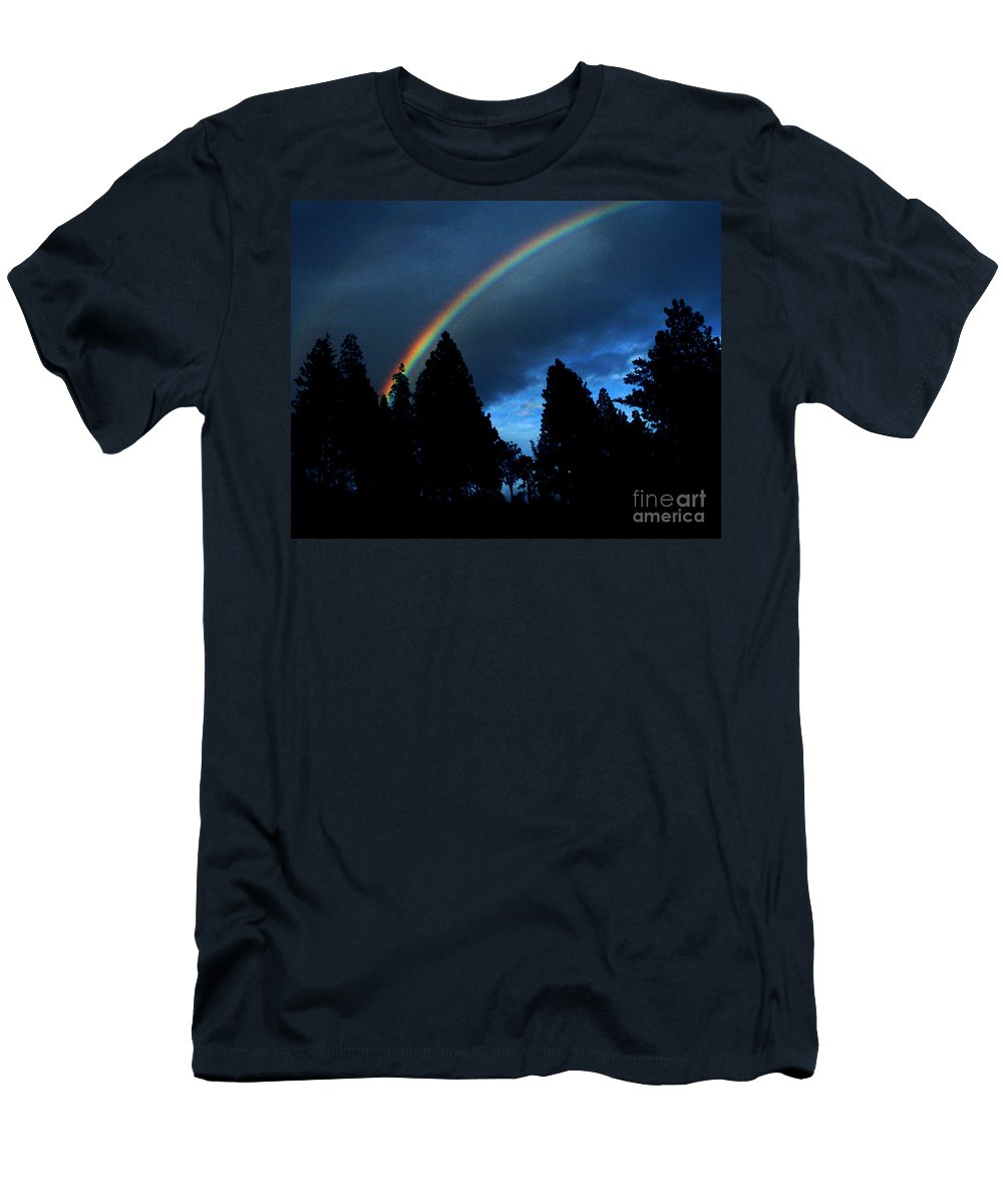 Rainbow Men's T-Shirt (Athletic Fit) featuring the photograph Rainbow Sky by Peter Piatt