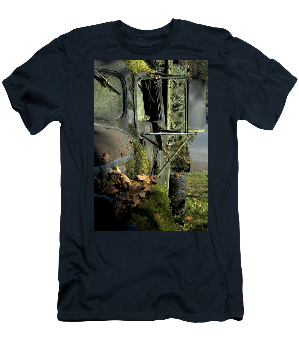 Truck Men's T-Shirt (Athletic Fit) featuring the photograph Rearview by Sara Stevenson