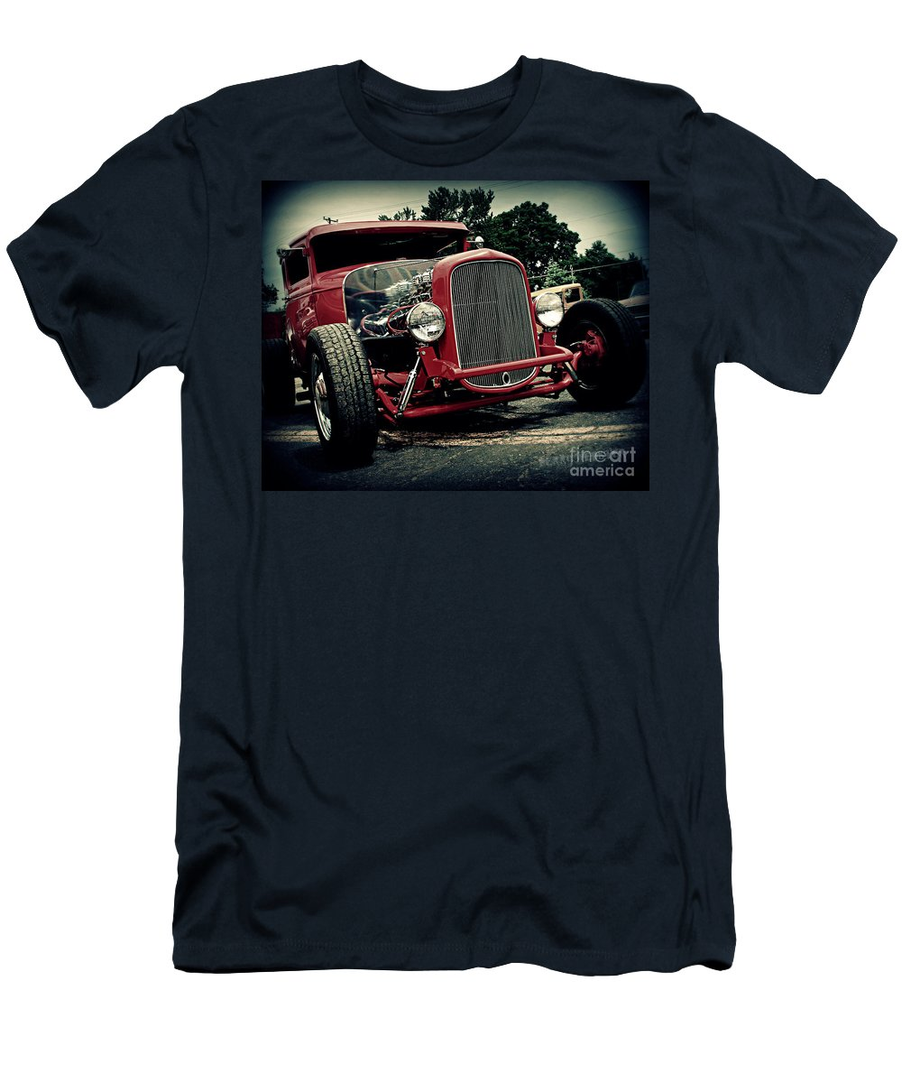 Car Men's T-Shirt (Athletic Fit) featuring the photograph Red Ride by Perry Webster