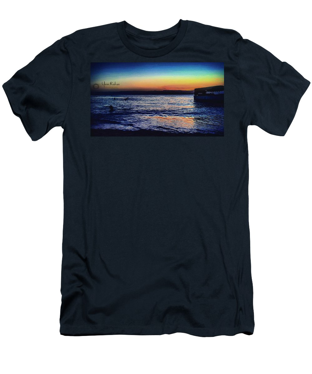 Sea... Red Sea ... Aqaba City Men's T-Shirt (Athletic Fit) featuring the photograph Red Sea Aqaba by Yara Thaher
