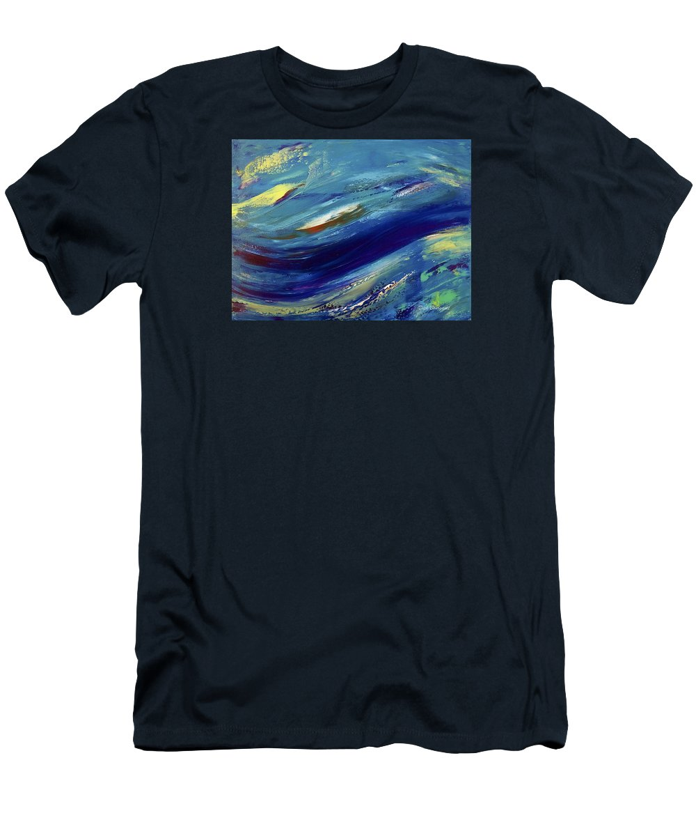 Abstract Men's T-Shirt (Athletic Fit) featuring the painting Reef by Dick Bourgault
