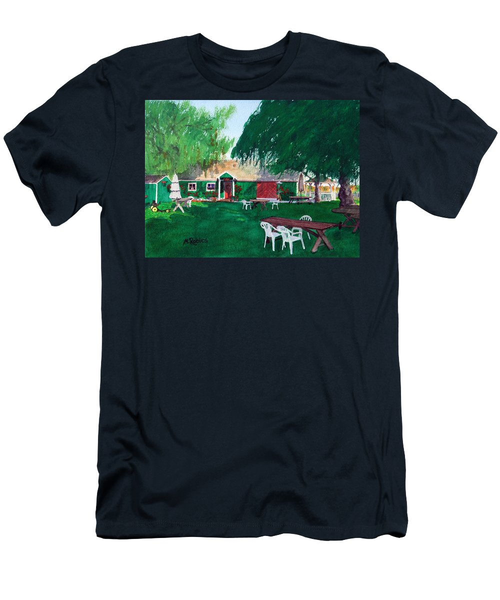 Winery Men's T-Shirt (Athletic Fit) featuring the painting Retzlaff Winery by Mike Robles