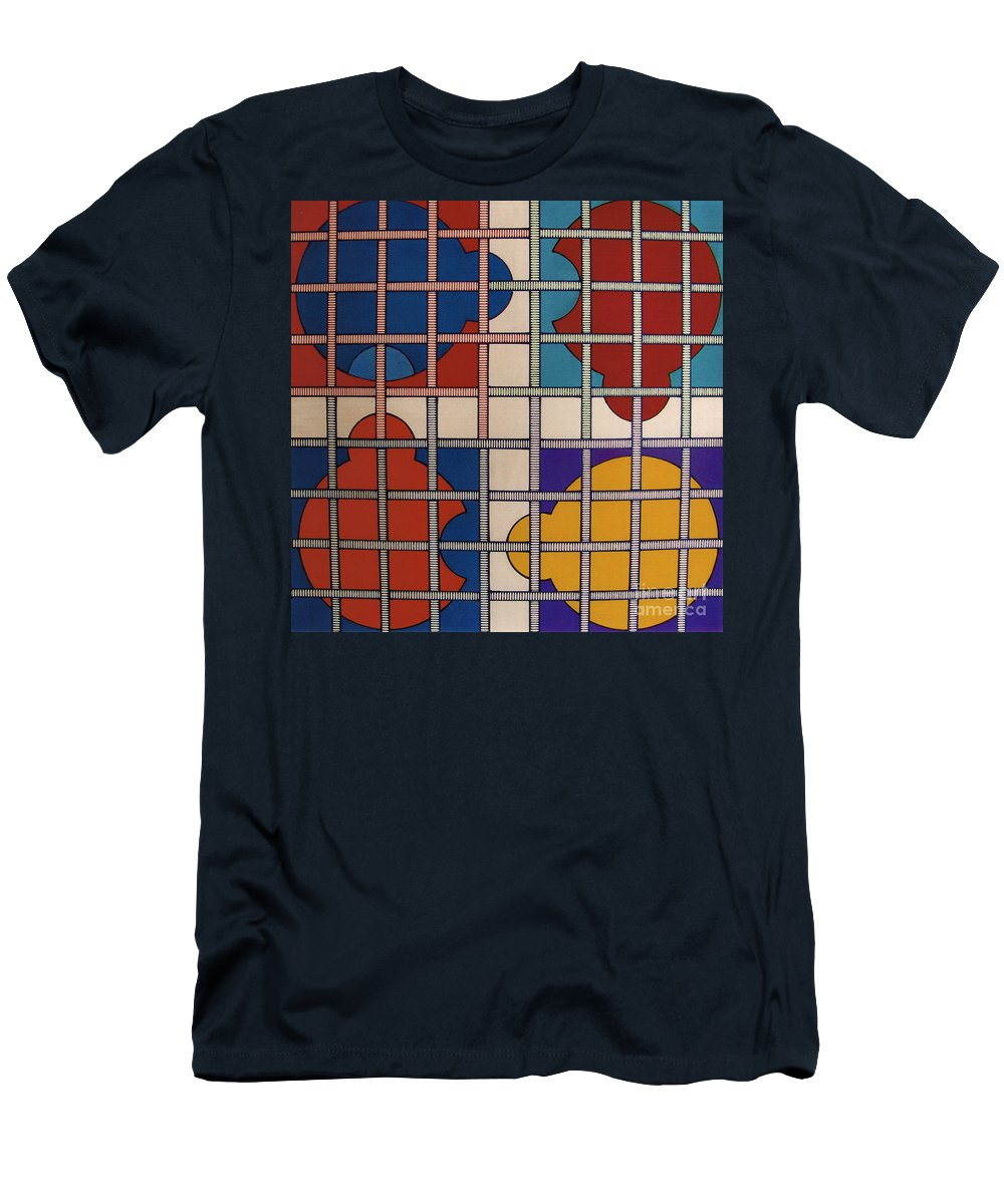 Abstract Men's T-Shirt (Athletic Fit) featuring the drawing Rfb0808 by Robert F Battles